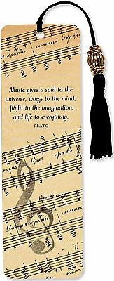 Music Beaded Bookmark Inspirational Quote Fun Cheap Gift Reading Books Book
