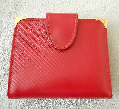 Vintage Capri Genuine Red Glove Cowhide Leather Wallet with Coin Purse New