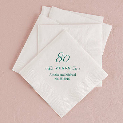 Personalized Printed Number Years Anniversary Birthday Party Napkins Q27285