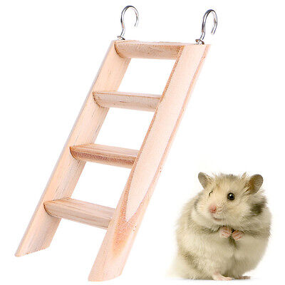 Hamster Chew Toys Wooden Hanging Climbing Ladder For Small Pet Mouse Rat Mice