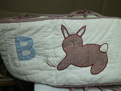 Pottery Barn Kids animal ABC baby infant crib bumper protection and bed sheet