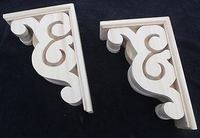 "Victorian Gingerbread Wood Corbel {12 1/2 x 8 1/2"" } Bracket #3 ~ PAIR ~ by  PLD"