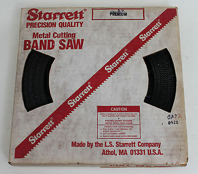 "Starrett Premium Bulk Band Saw Blade, 100' x 3/4"" x 6 TPI, Regular Set, New"