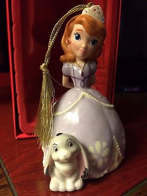 "Lenox Disney Sofia the First Christmas Ornament 4.5""  - New in Box"