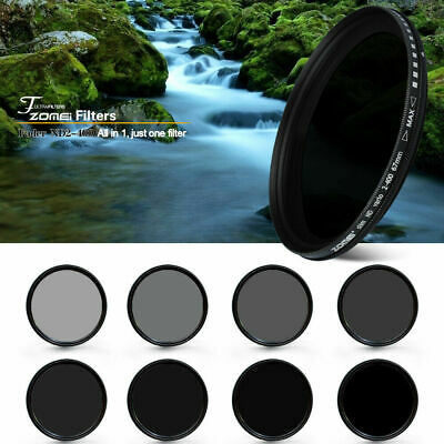 ZOMEI 52/55/58/62/67/72/77/82mm Adjustable Neutral Density Fader  filter ND2-400