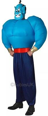 Adult Genie Mens New Fancy Dress Arabian Disney Aladdin Inflatable Costume