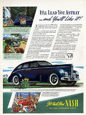 1939 Nash Car Ad --Nash 4 Door Sedan ----t483