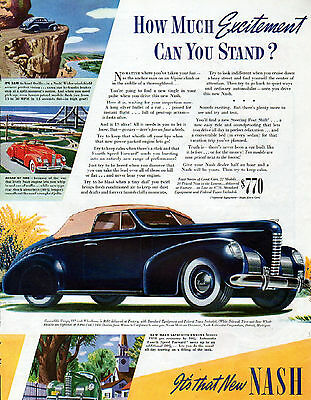 1939 Nash Car Ad --Nash Convertible Coupe -----t484