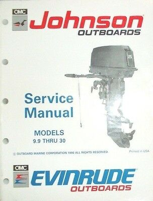 Johnson Outboards -  Service Manual..omc Ei : Models 9.9 Thru 30...vgc