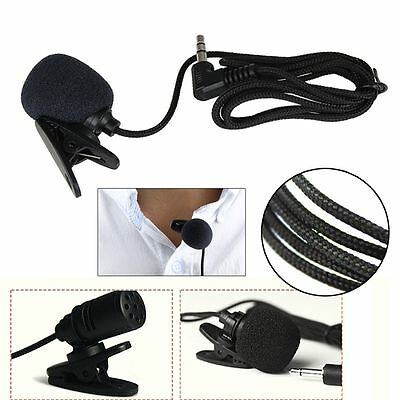 3.5mm Lavalier Microphone Lectures Teaching Wired-Audio Jack Clip-On Collar