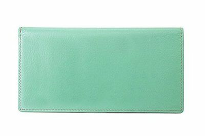 ili 7406 RFB Leather Checkbook with Pen Holder Turquoise/ Toffee