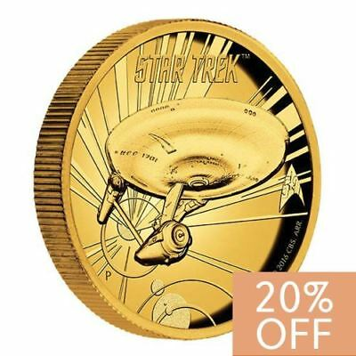 NEW Perth Mint - Star Trek U.S.S. Enterprise NCC-1701 1oz Pure Gold Coin