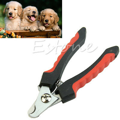 Dog Cat Pet Claw Toe Nail Cutter Clipper Trimmer Grooming Scissor Shear Groomer