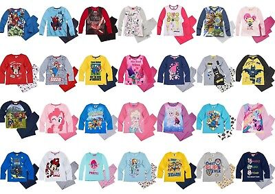 Boys Girls Kids Character Long Sleeve Pyjamas pjs Age 2-12 yrs. Xmas gift