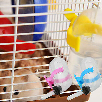1/5PC Pet Hamster Drinking Bottle Cage Hanger Water Bottle Dispenser With Clip