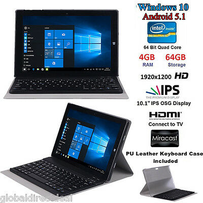 "CHUWI Hi10 10.1"" Windows10 Intel Quad Core 4GB/64GB Tablet PC with Keyboard Case"