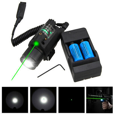 2in1 Tactical Q5 LED Flashlight Green/Red Laser Sight Combo for Shotgun Glock