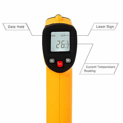 Non-Contact Digital Laser Infrared IR Thermometer Temperature Temp Meter Gun New