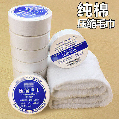 Disposable Compressed Bath Face Travel Reusable Cotton Towel Washing Hotel