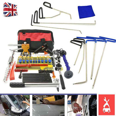 PDR Paintless Dent Repair Tools Kits Hail Removal Hammer Puller 9PCS Rods Kits