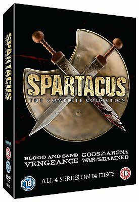 Spartacus The Complete Collection Slim Edition DVD Box Set UK Region 2 NEW