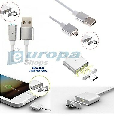 Cable carga datos magnetico Micro Usb iman Samsung Huawei Xiaomi LG Zte Android