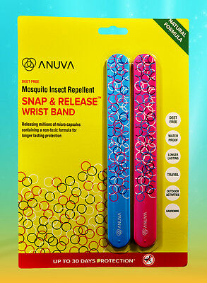 Anti Mosquito Bug Insect Repellent Wrist bands Bracelet Mozzie Camping Sports