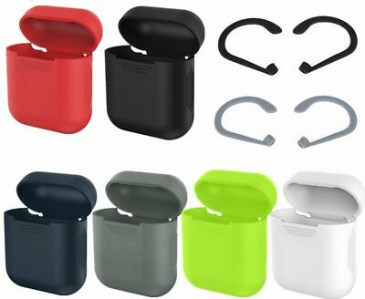 Soft Silicone Shockproof Cover Case Skin/Earhook For Apple AirPods Earphones