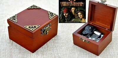 Vintage Classic { Pirates of Caribbean Davy Jones Theme } Wooden Music Box :