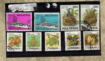 MALAYSIA - ASIA c1970s POSTALLY USED Vintage STAMPS