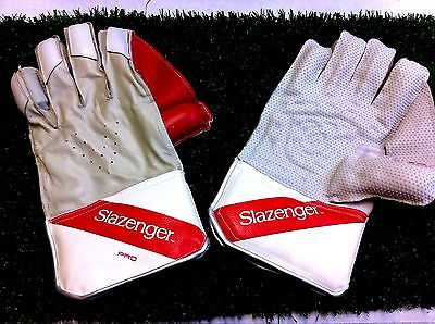 Slazenger Pro Wicket Keeping Gloves  Bnib Youth Size Only Rrp £40