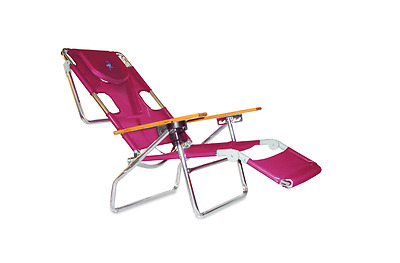 Ostrich 3N1 Beach Chair Pink Outdoor Folding Recliner Pool Lounge Summer Tanning