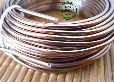 Bigiotteria Filo Alluminio Modellabile di 2,5mm color Bronzo Wire Fai da te 2mt.