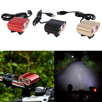 2000 Lumen XX2 LED USB Rechargeable Bicycle Bright Light MTB Bike Headlight AU