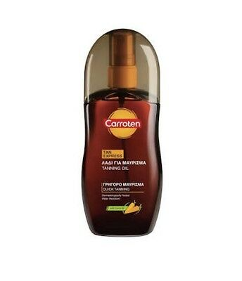 Carroten Tan Express Oil Spray 125ml Original Product From Greece