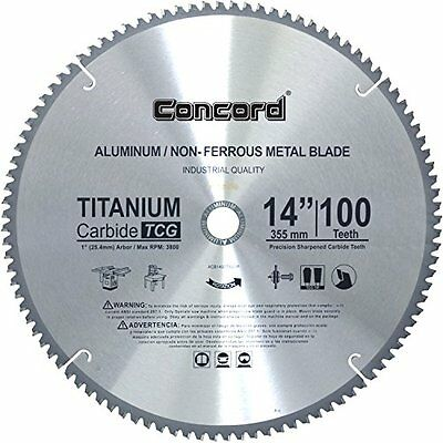 Concord Blades Circular Saw Blades ACB1400T100HP 14-Inch 100 Teeth TCT Metal Saw