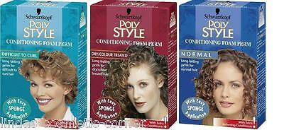 Schwarzkopf Poly Style Foam Conditioning Home Perms Assorted