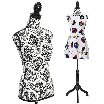 Female Mannequin Torso Dress Form Display W/ Black Tripod Stand New National