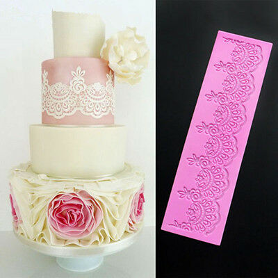 3D Lace Flower Silicone Fondant Mat Cake Decorating Baking SugarCraft Mould Tool