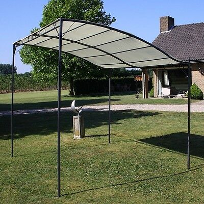 Patio Sun Awning Metal Wall Gazebo Canopy Shelter Porch Outdoor Cover Front Rain