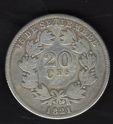 Nicaragua 20 Cents. 1880 ,silver  Nice Condition
