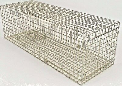 """LARGE FERAL cat trap 36"""" long feral cat trap TrapMan UK made CAT CAGE trap"""