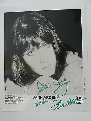 Jann Arden Singer/Songwriter Authentic Signed Autograph 8 x 10  Photo