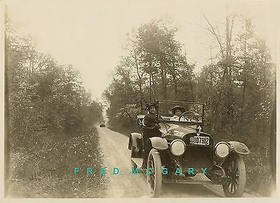 """1915 5""""x7"""" Original Real Photo: Hudson Automobile With Ohio License Plate"""