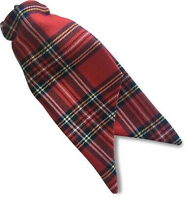 Womens Ladies Royal Stewart Tartan Security Safety Clip On Cravat Tie