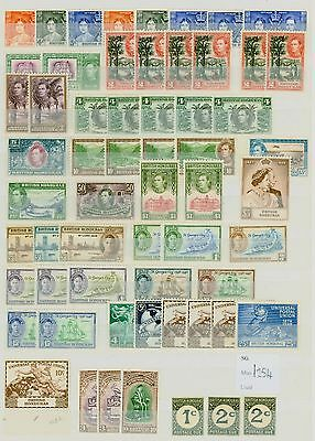 British Honduras KGVI Stamp Collection Fine Mint STC CV £254 Excellent Value