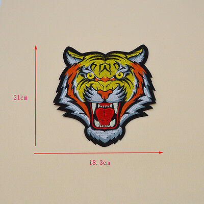 BENGAL TIGER WILD ANIMAL Embroidery Iron/sew on patch applique badge Motif big