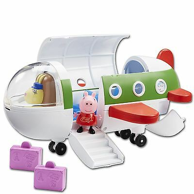 Peppa Pig Peppa's Air Jet Plane With Acessories Figure Rebecca Pilot Toy 3+