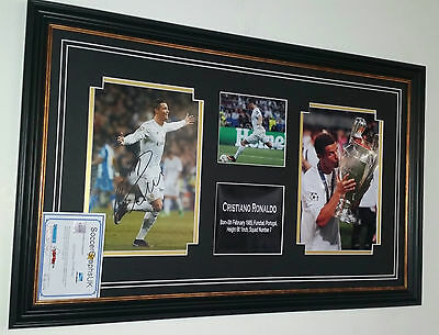 * NEW Cristiano Ronaldo of Real Madrid Signed Photo Picture Autograph Display *