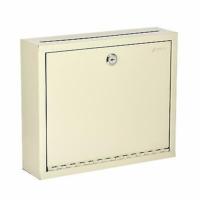 Adir Steel Beige Drop Box Wall Mountable Envelope Cash Mail Suggestions